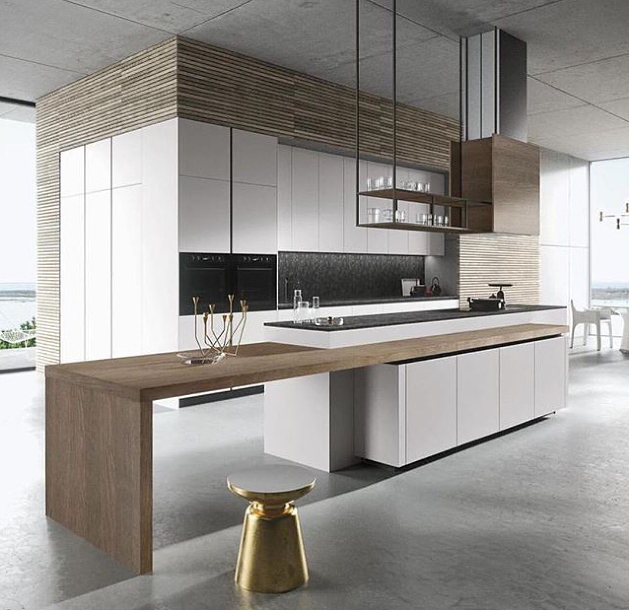 Sleek Kitchen Design: Clean Lines In This Kitchen Design To Create A Sleek