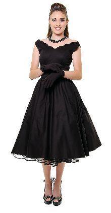 Tea Length Black Bridesmaid Dresses