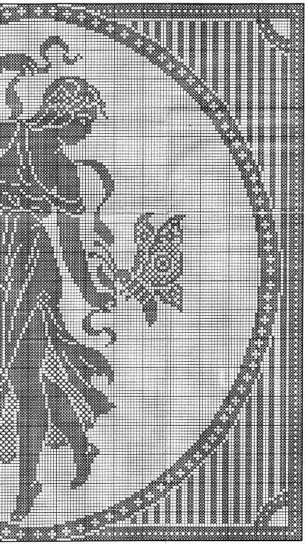 Solo Patrones Punto Cruz   κουρτίνες   Pinterest   Crochet, Cross ...
