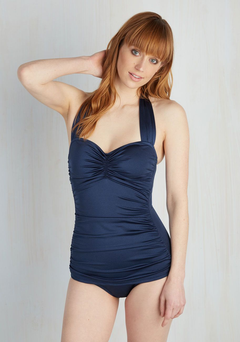 c85bd26b04f Bathing Beauty One-Piece Swimsuit in Navy   Swimsuits   Swimsuits ...