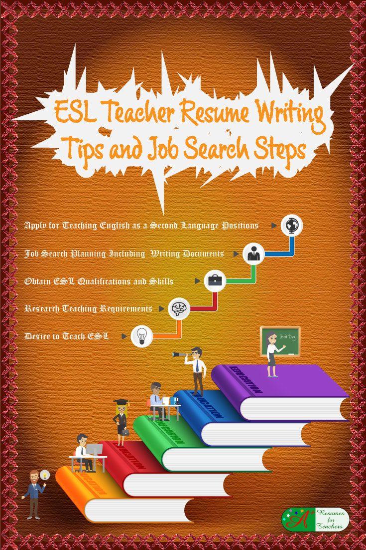 esl teacher resume writing tips and job search steps