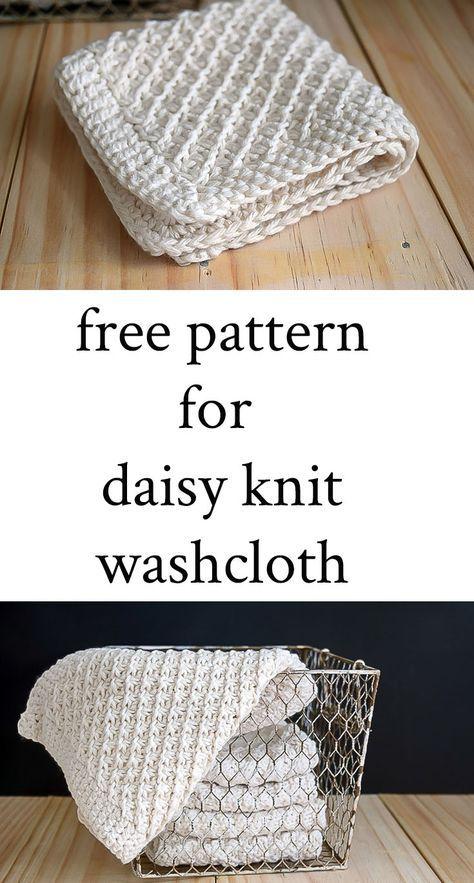 Daisy Stitch Knit Washcloth Pattern Knitted Washcloths Knitted