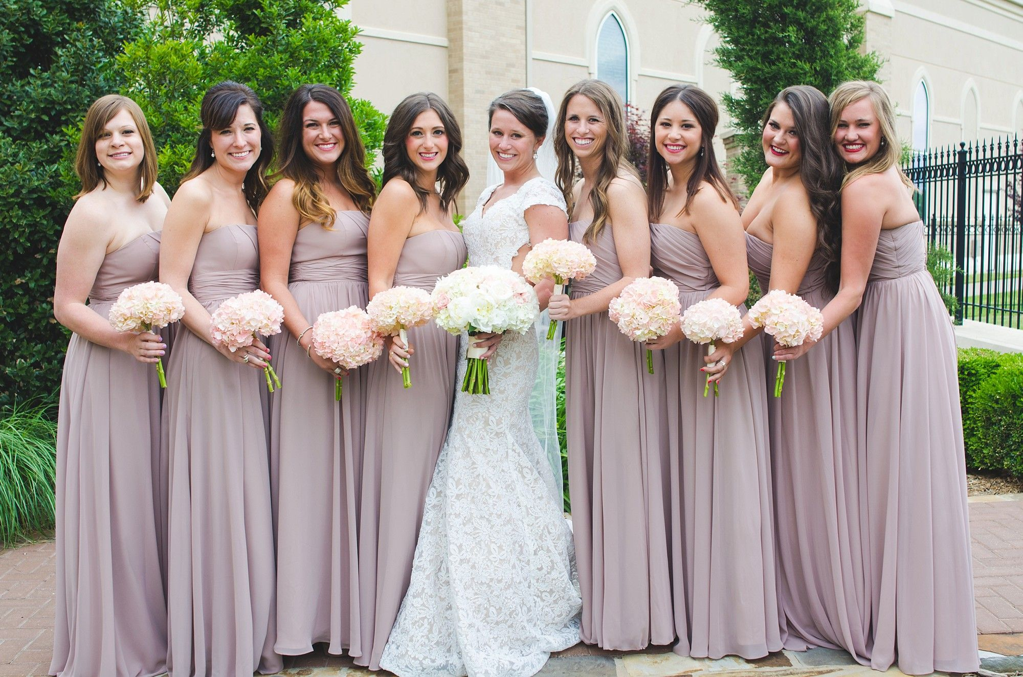 Neutral pink bridesmaids dresses with blush bouquets neutral neutral pink bridesmaids dresses with blush bouquets ombrellifo Images