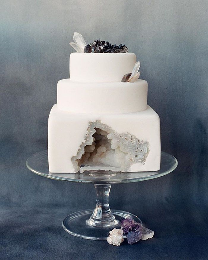 This New Geode Wedding Cake Trend Is Rocking The Internet