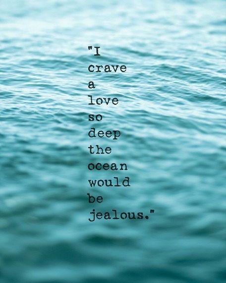 Teal Blue Ocean Art Print Love Quote Print Ocean Wall Art | Etsy