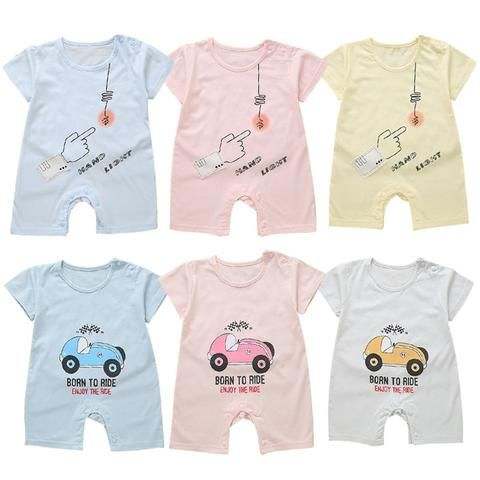 23029ed4361 WEIXINBUY Baby Rompers Summer Style Powered Baby Boy Girl Clothing Newborn  Infant Car Short Sleeve Clothes Bebe De Roupa