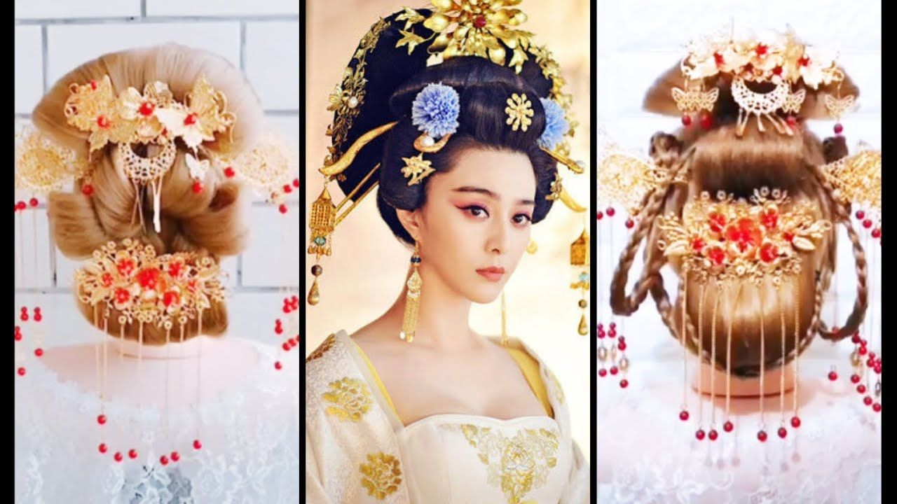 top 20 easy chinese old traditional hairstyles tutorials20