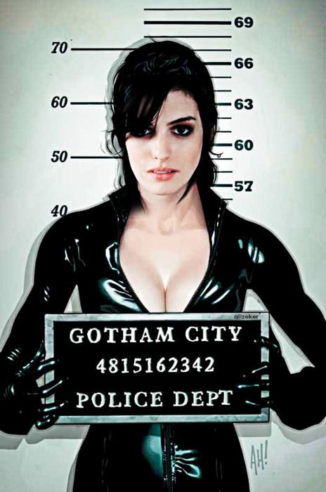 Anne Hathaway is Selena Kyle (Catwoman) in 'The Dark Knight Rises'. S-excited!
