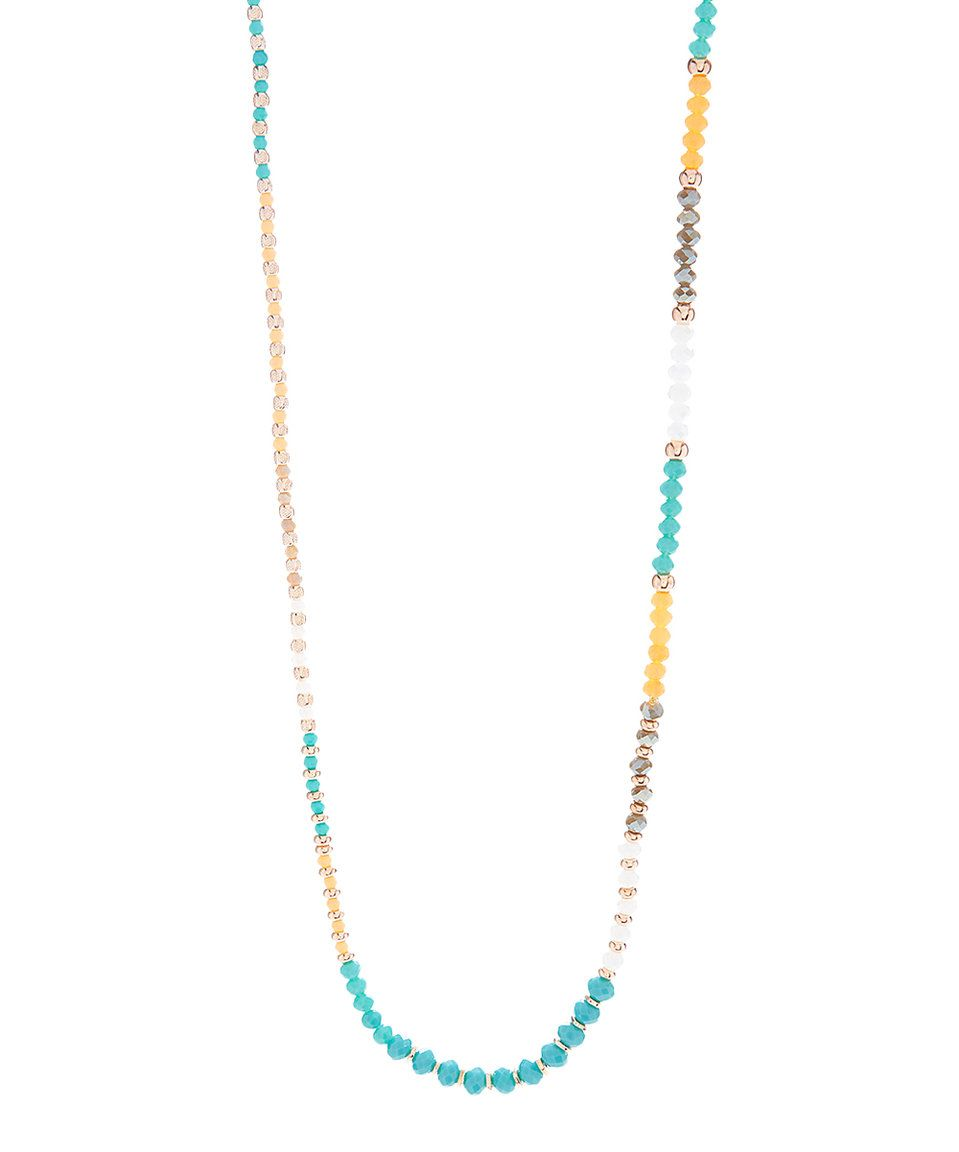 Take a look at this Blue & Silver Beaded Endless Necklace today!