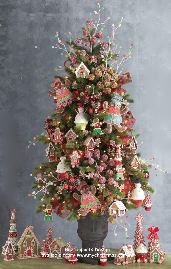 raz imports decorated christmas tree - Christmas Tree Decorations Candy Theme