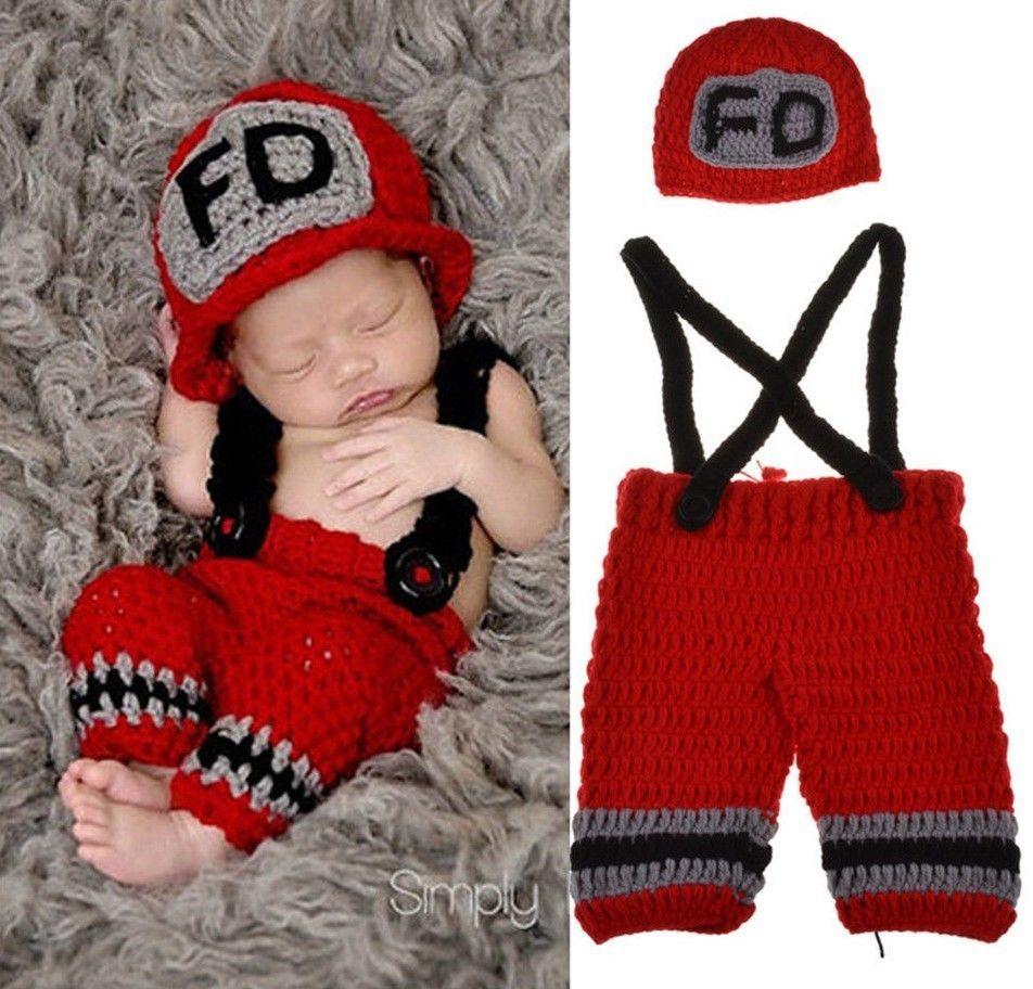 2 x Piesas Traje de Bombero Para Bebe y Recien Nacido Accesorios de  Fotografía  Unbranded c851dc1c8d49