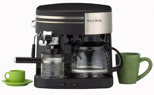 West Bend 55108 3 In 1 Coffee Center Black And Stainless Quickly View This Special Product Click The I Coffee And Espresso Maker Coffee Center Coffee Maker
