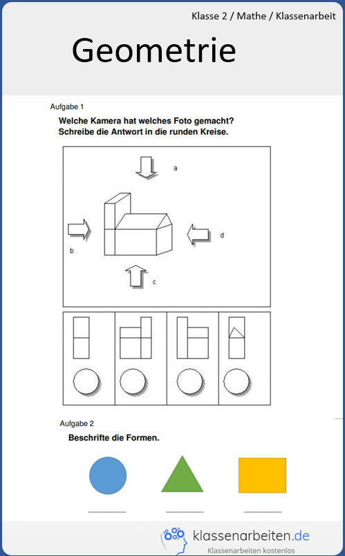 kostenlose geometrie klassenarbeit zum ausdrucken hier findest du kostenlo klassenarbeiten. Black Bedroom Furniture Sets. Home Design Ideas