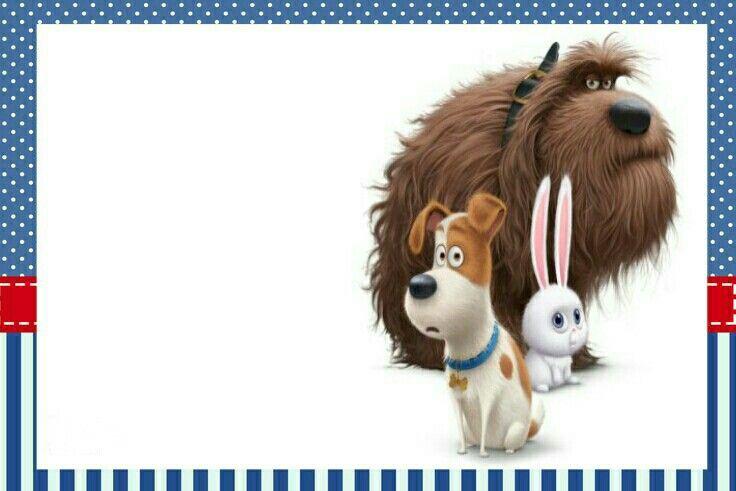 Printables the secret life of pets movie. Mascotas