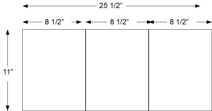 trifold size - Поиск в Google | Paper sizes | Pinterest | Paper size