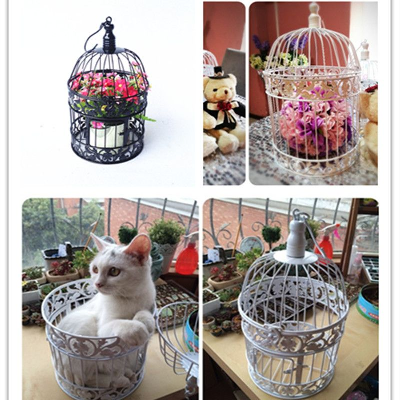 Charmant Decorative Weddings Bird Cages Iron Metal White Large Cage Holder Party  2016 New Home Decor Bird