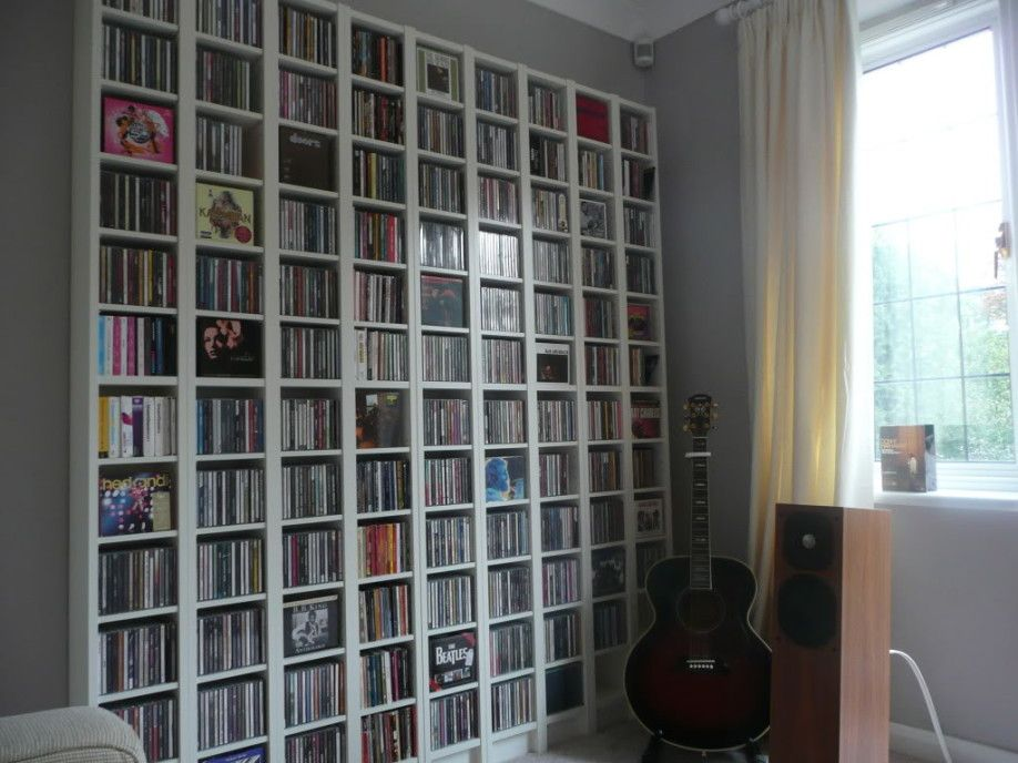 Beau The Yellow Curtain Of Modern CD Storage Solutions