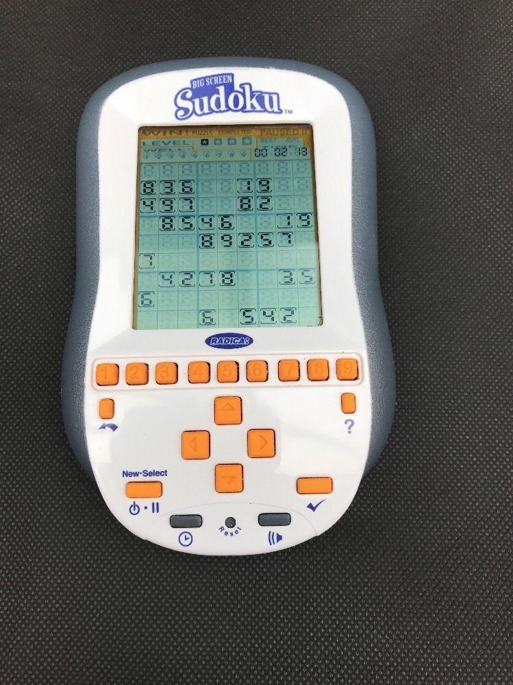 BIG SCREEN SUDOKU HANDHELD ELECTRONIC GAME BRAIN
