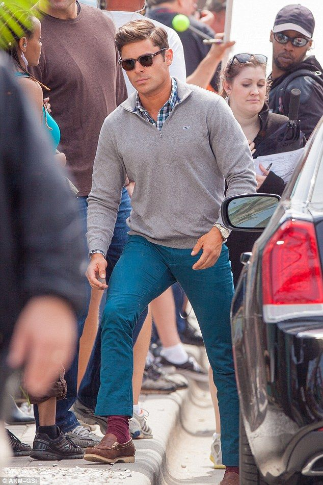 Zac Efron Dons Fringed Crop Top And Neon Trousers For Dirty Grandpa