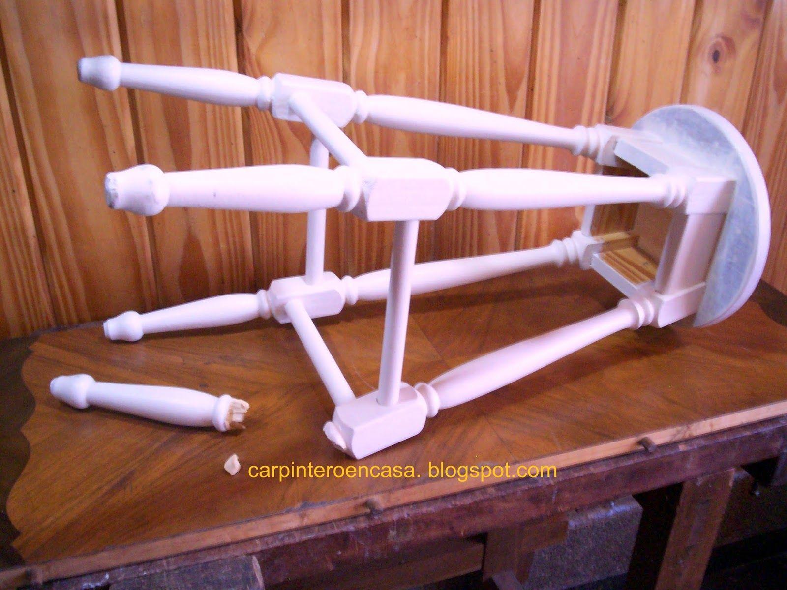 Carpintero En Casa Como Reparar Una Pata De Banco Silla Mesa Patas De Muebles De Madera Patas De Banco Sillas