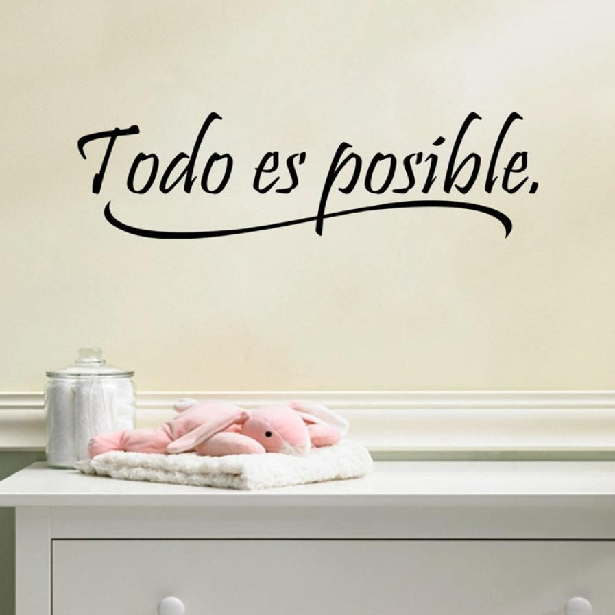 Wedding decorations quotes  Todo Es Posible Wall Art Removable Home Vinyl Window Wall Stickers