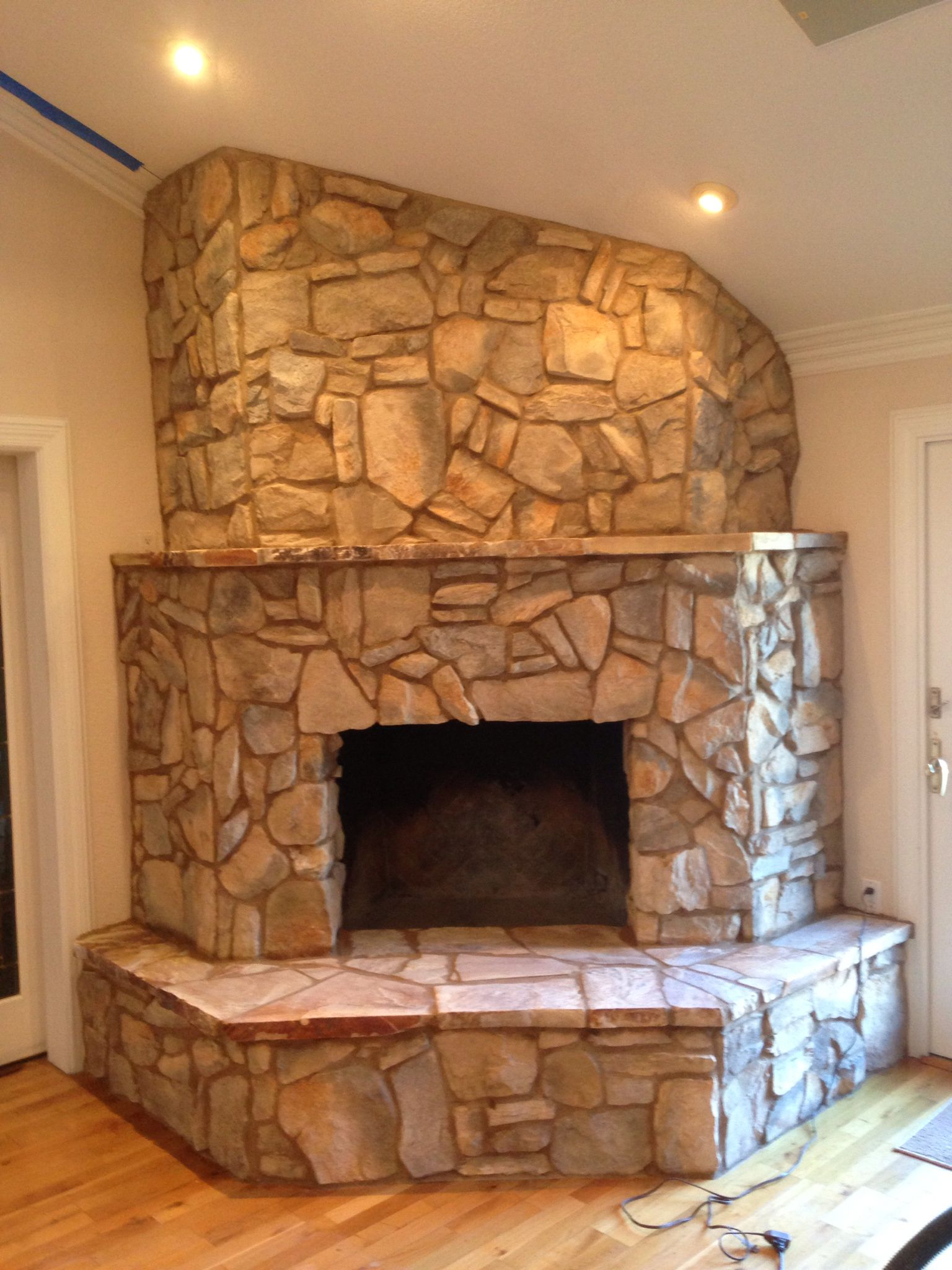 Stone Fireplace Face By Jones Masonry Dixon,Ca
