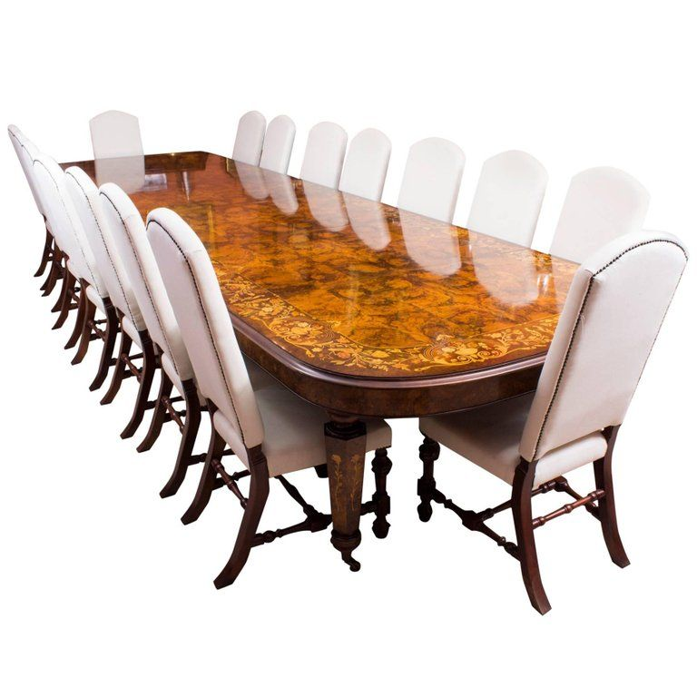 Huge Bespoke Handmade Marquetry Burr Walnut Extending Dining Table Brilliant Handmade Dining Room Chairs Review