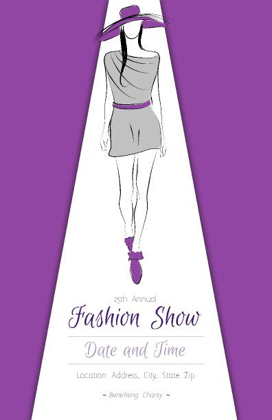 Simple borderless fashion poster with images and information 100 - missing flyer template