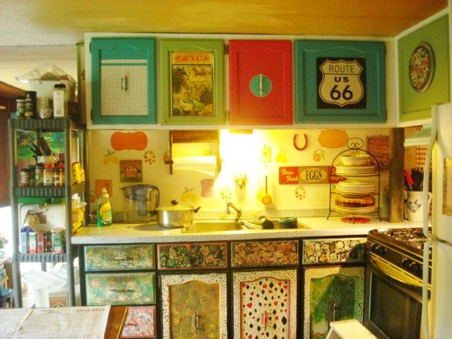Painted My Old Mobile Home Kitchen Mobile Home Kitchens Kitchen Remodel Small Mobile Home Makeovers