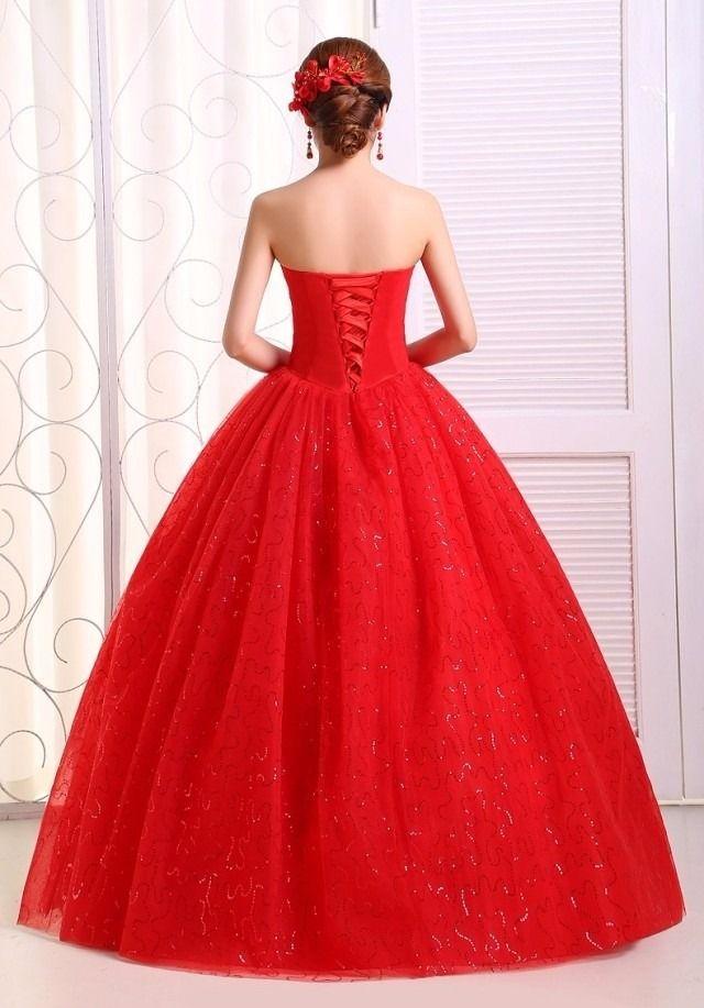 Por Encargo 5700 Vestido De 15 Años Rojo Soñado Oferta