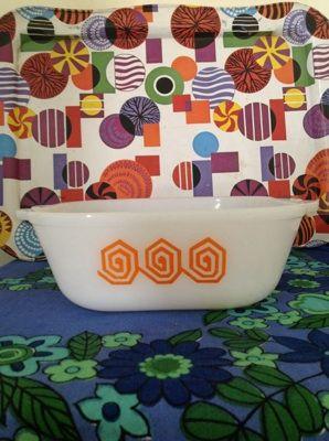 Retro 1960 S 70 S Crown Pyrex Australia Square Casserole Dish Orange