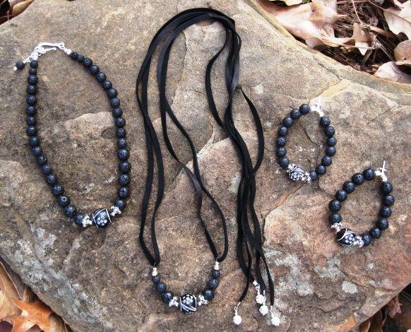 Tahitian Bead and Lava Stone Jewelry