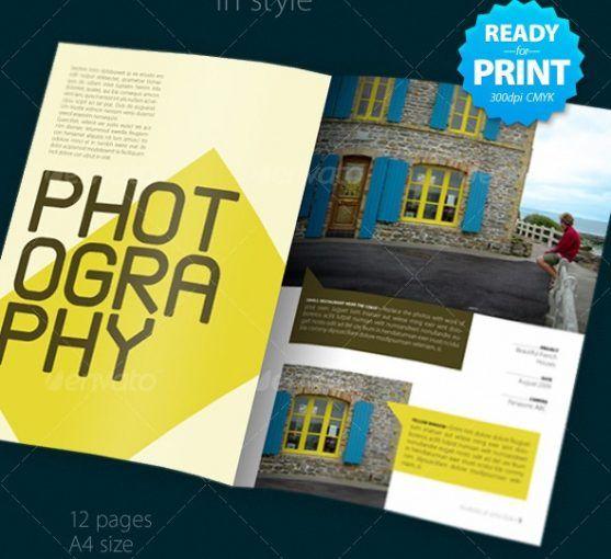 Desain Booklet Template Premium Download | Contoh Katalog Dan