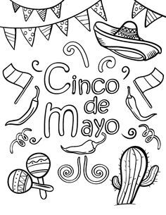 Free Cinco De Mayo Coloring Page Cinco De Mayo Coloring Pages Cinco De Mayo Colors