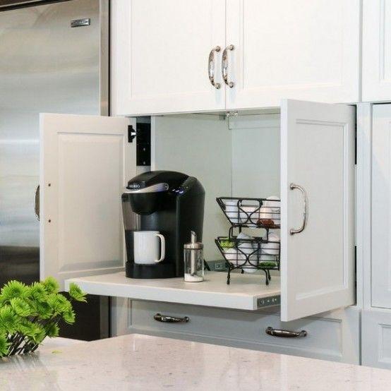Cómo organizar los pequeños electrodomésticos en la cocina Storage