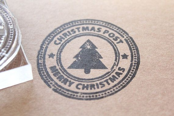 Christmas Post Stamp 2x2 Inches by StandardStamp on Etsy