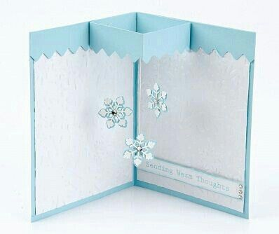 Snow Winter Pop Up Card I Would Try And Acetate Window
