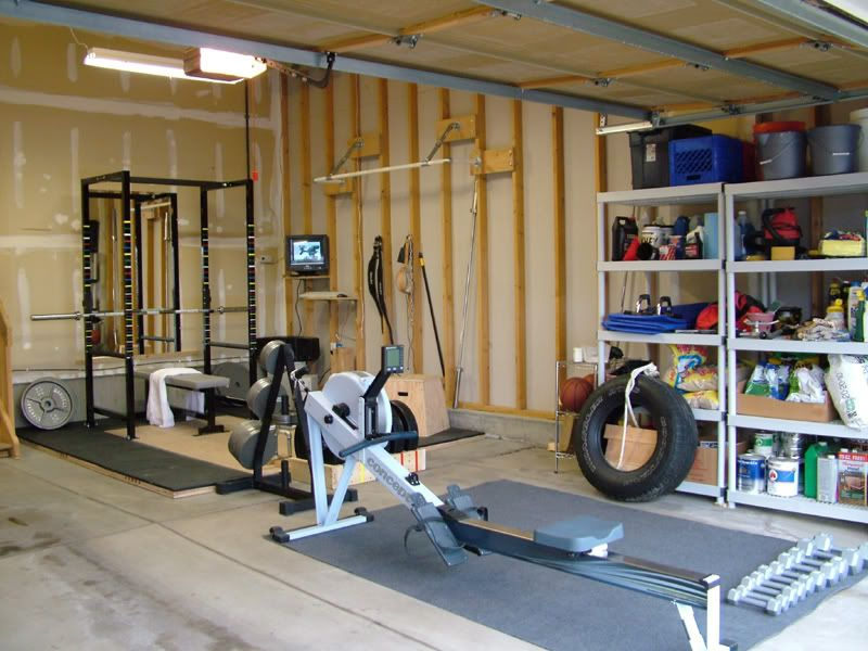 Pretty sweet garage layout home gym pinterest