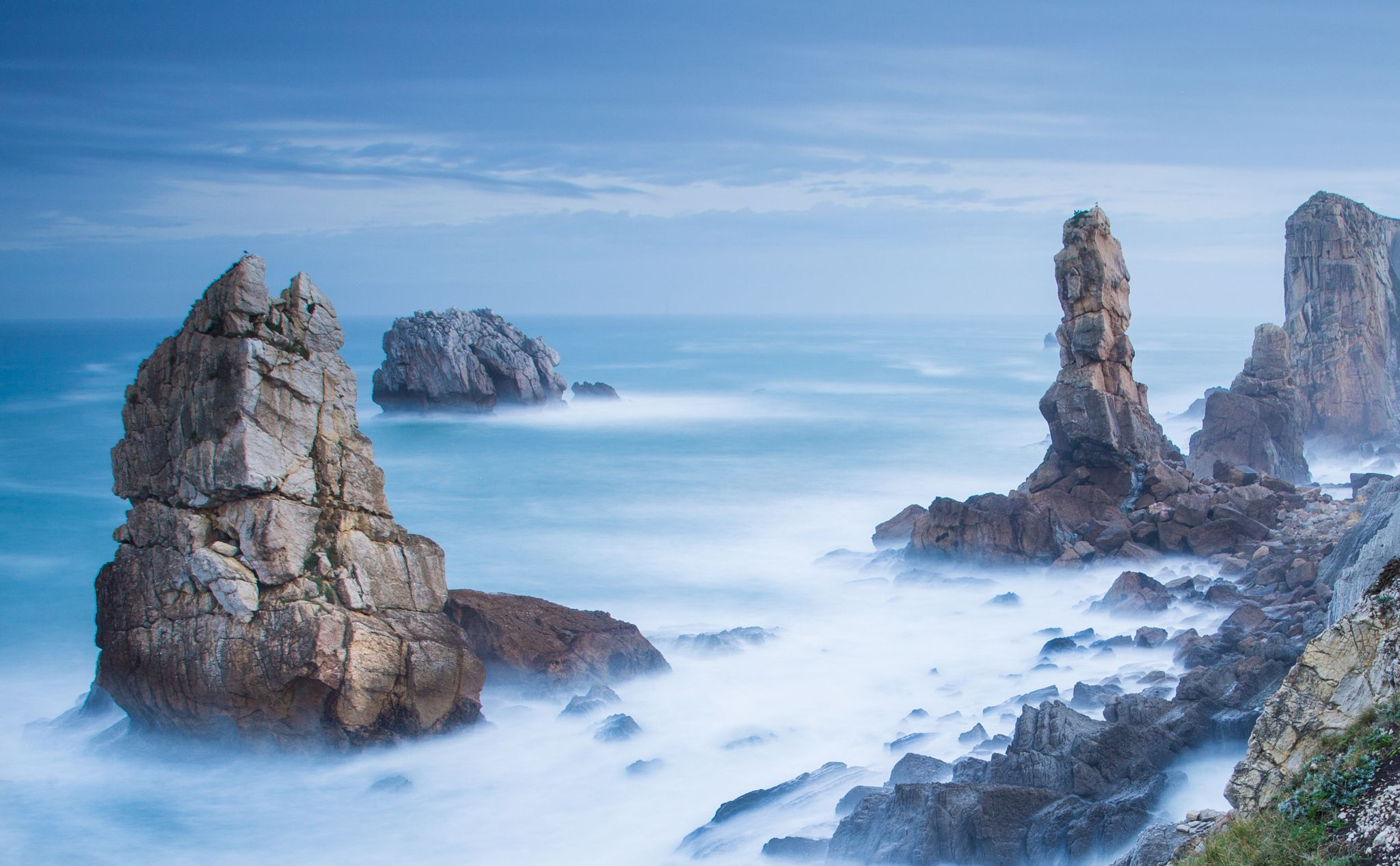 Broken coast - Landscape of Costa quebrada , Liencres #Cantabria #Spain