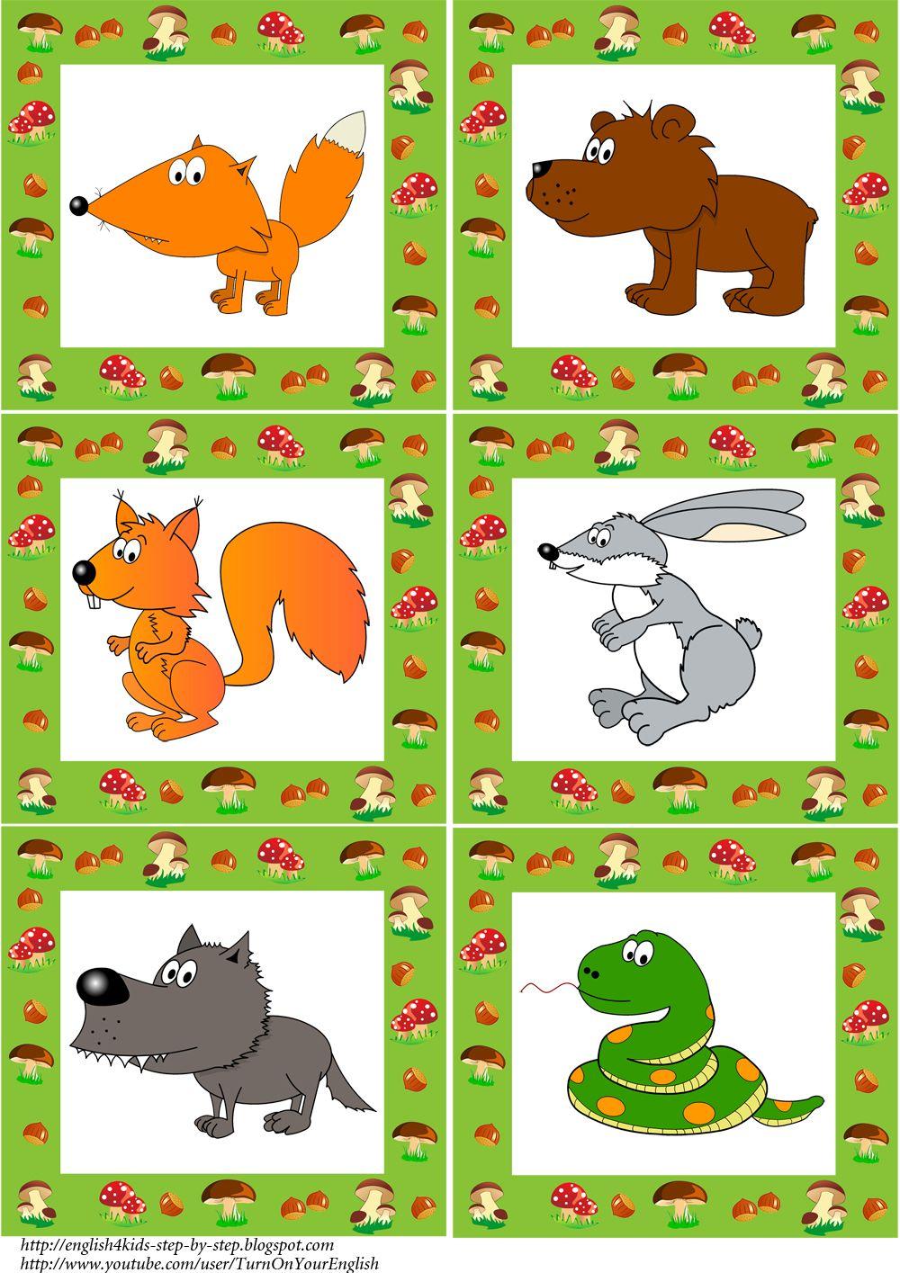 forest-animals-flashcards-1#esl flashcards | Forest Animals ...