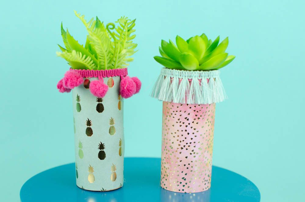 This Trendy Toilet Paper Roll Craft Toilet Paper Roll Planters Are Easy To Make And