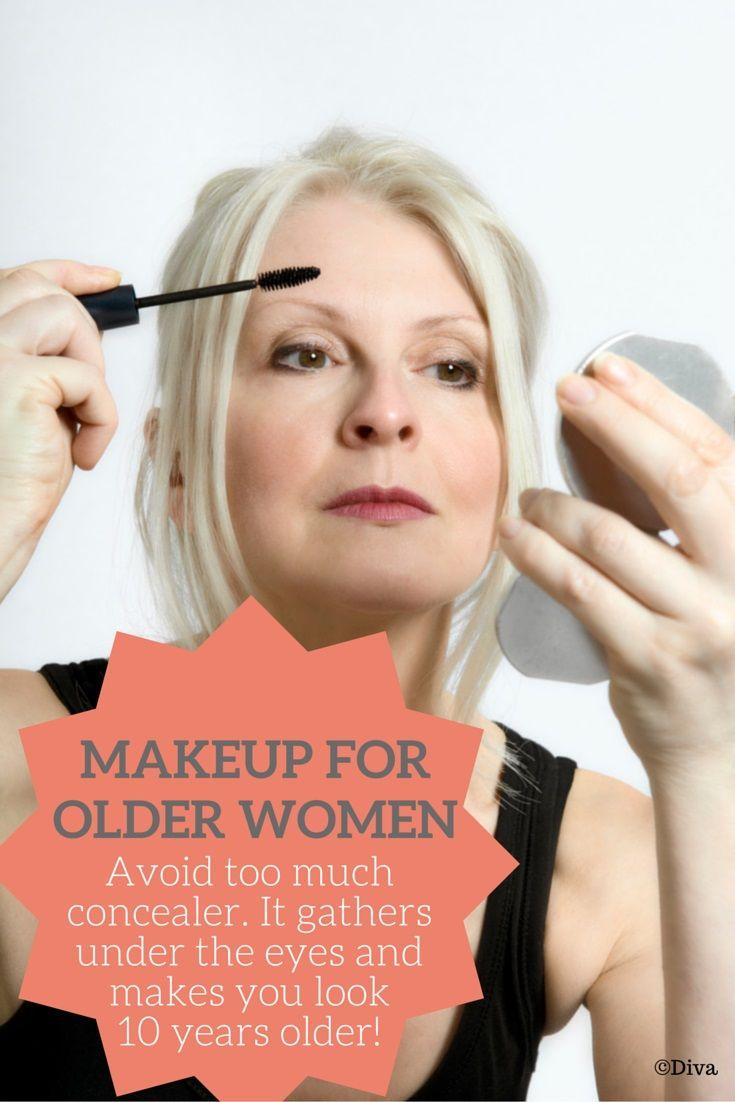 Makeup For Older Women - Do Not Apply Too Much Concealer -9886