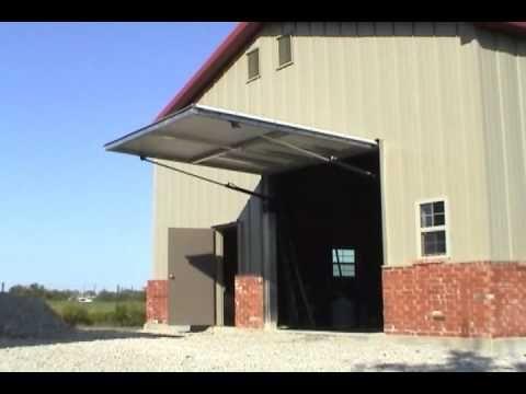 Home Made Hydraulic One Piece Shop Door Youtube Sectional Garage Doors Shop Doors Overhead Door