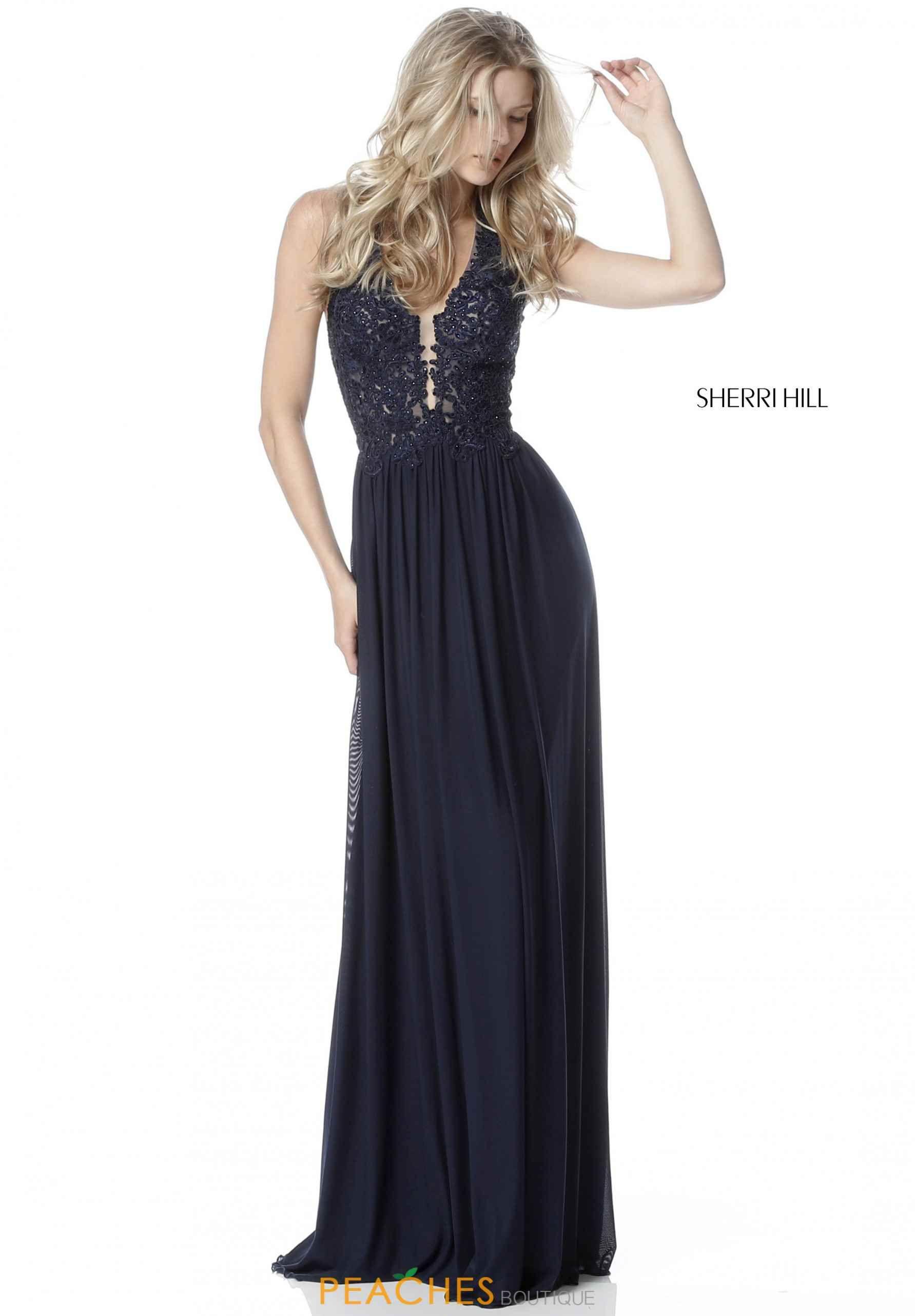 Sherri hill halter a line dress dresses pinterest sherri