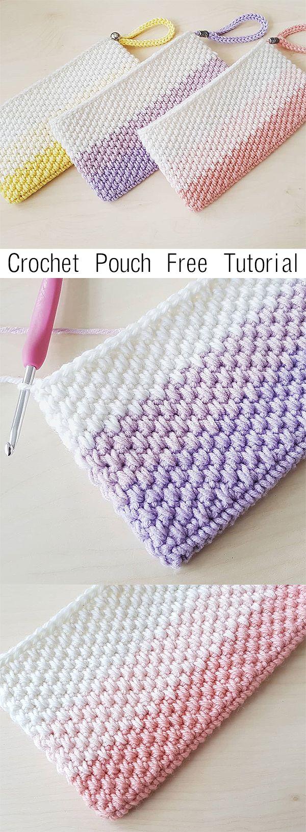 Crochet Pouch - free tutorial