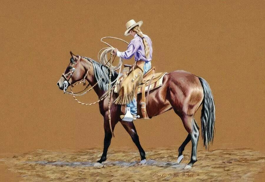 """The Cowgirl Roper"" ~ Marti Miller Hubbel"