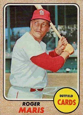 1968 Topps Roger Maris 1968 Topps Baseball Cards Old Baseball