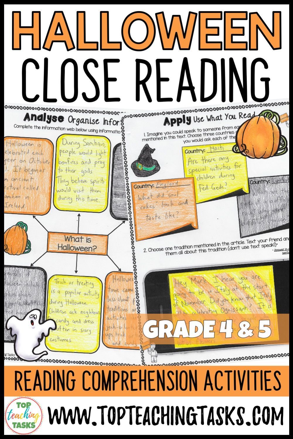 Hook Your Students Into Reading With This Engaging Halloween Themed Resource This Acti Halloween Reading Comprehension Reading Comprehension Halloween Reading [ 1497 x 1000 Pixel ]