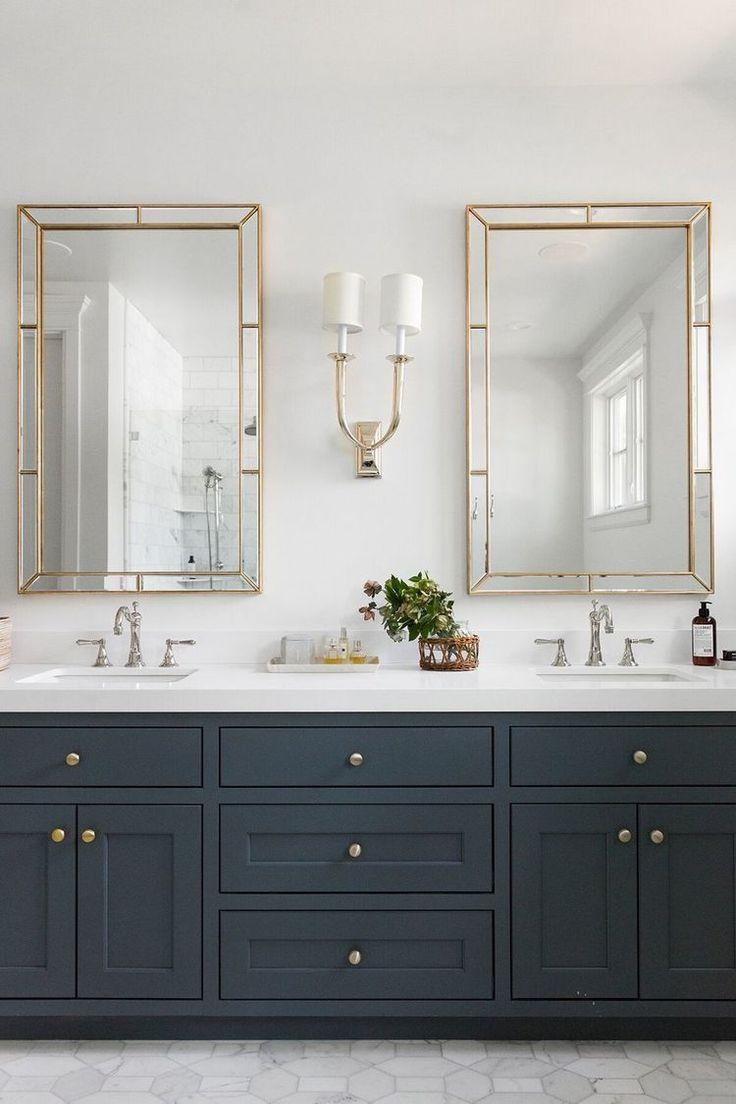 Light Mirror Combinations For Your Bathroom Studio Mcgee Gold Bad Tolle Badezimmer Doppelwaschbecken Badezimmer