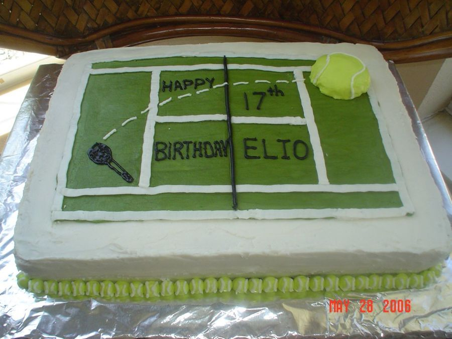 Tennis Anyone Tennis Themed Birthday Cake For 17 Year Old Boy